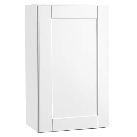 white shaker wall cabinets hton bay 18x30x12 in shaker wall cabinet in satin