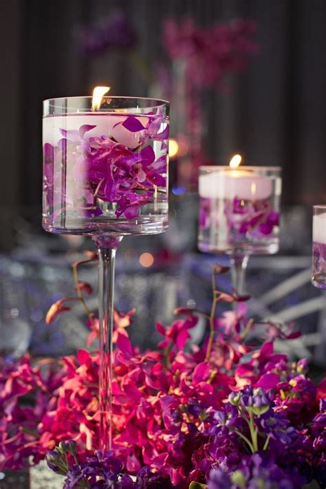 floating flowers  candles centerpieces shelterness
