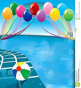 Pool Party Backgrounds Clipart