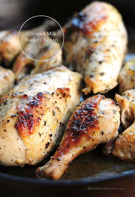 coconut milk baked chicken recipe  wears  hats
