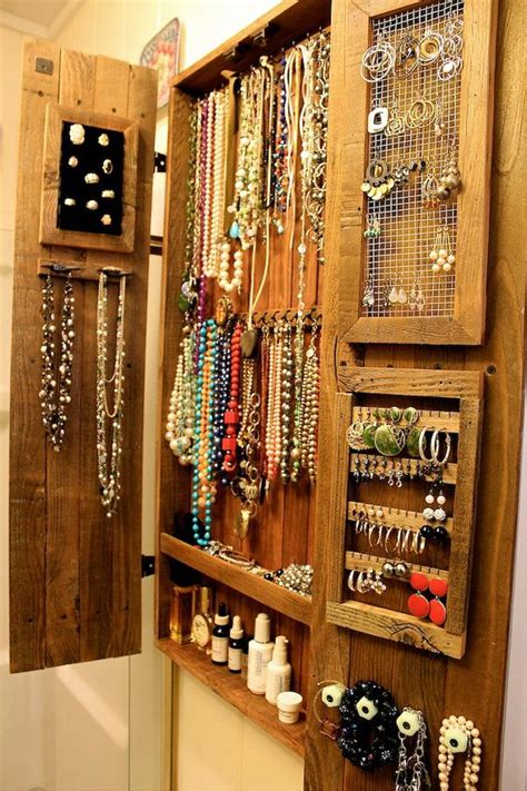 jewelry armoires necklaces holder earrings storage