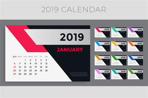 creative  calendar template design