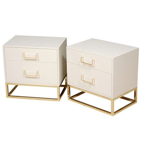 Brass Nightstands by Nightstands With Brass Base By Lawson Fenning At