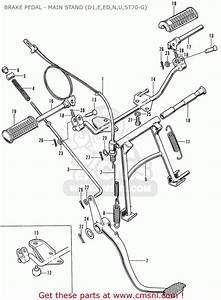 Honda St70 Dax England Brake Pedal