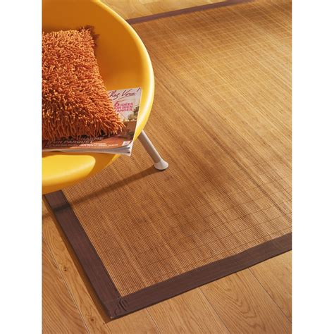 tapis naturel bambou naturel l 160 x l 230 cm leroy merlin