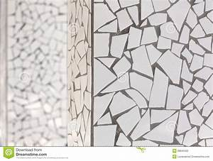 Broken Tiles Mosaic Trencadis Typical From Mediterranean