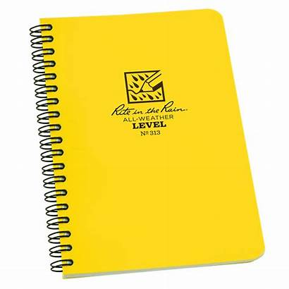 Spiral Notebook Side Yellow Rite Rain Level