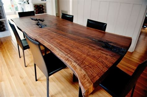 live edge black walnut dining table handmade live edge modern walnut dining table by taylor