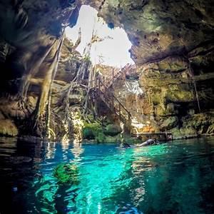 Scuba Diving a Cenote from Merida, Mexico