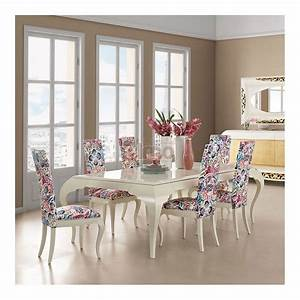 table salle a manger laquee blanc pieds galbes newyork2 With salle À manger contemporaineavec fauteuil table a manger