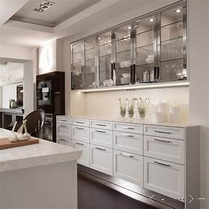 Glass front cabinets contemporary kitchen de giulio for What kind of paint to use on kitchen cabinets for metal wall art mirrors