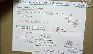 How To Calculate The Weight Of M S Angle For Billing