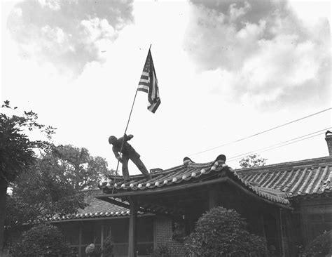 American Flag Hd Images File U S Marine Raises Flag At American Consulate In Seoul Korea Jpg Wikimedia Commons