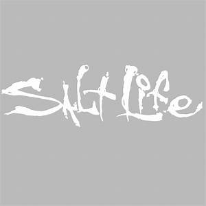 """White 6"""" Salt Life Signature Decal"""
