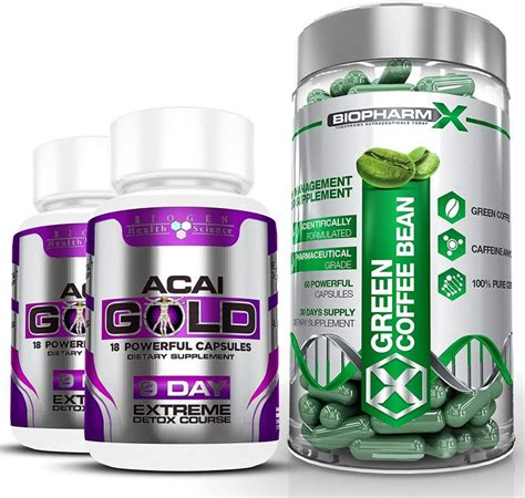 Just doing one in the middle of eating a standard american diet (sad) will not have a positive effect on the body. Biopharm-X Green Coffee Bean Extract and Acai Berry Gold : Max Strength Diet/Detox and Wei ...