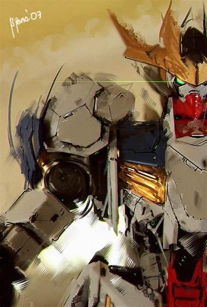 Gundam Barbatos Rex Lupus Ibo Fanart Artstation
