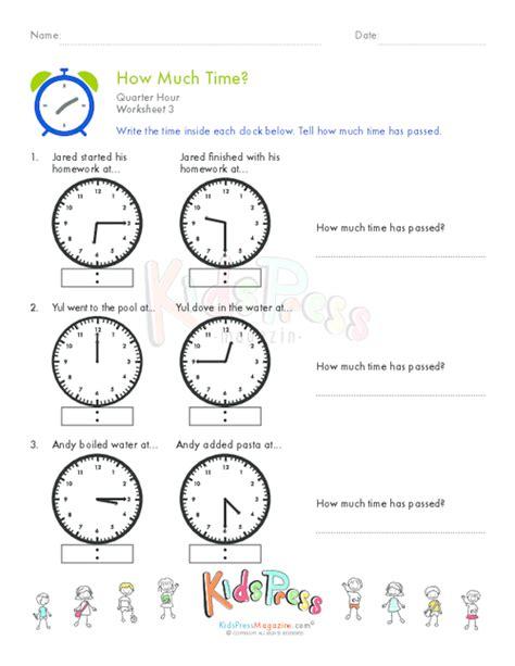 telling time quarter hour worksheet 8 kidspressmagazine