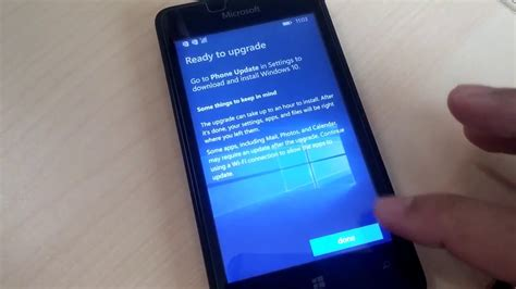lumia 430 upgrade to windows 10 mobile youtube