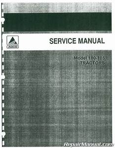 Allis Chalmers 180 And 185 Service Manual