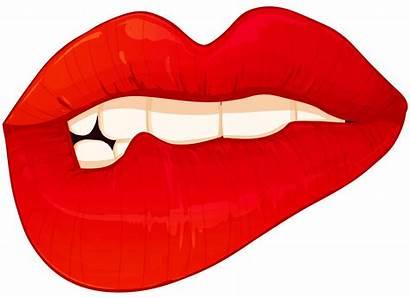 Lips Clip Clipart Biting Lip Transparent Bite