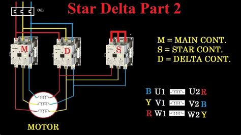 image result  automatic star delta connection