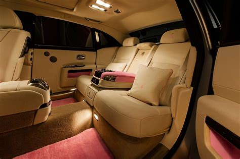 customized rolls royce interior 2013 rolls royce ghost fab1 for breast cancer care