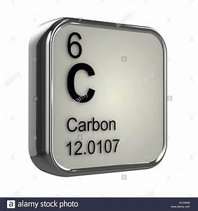 3d Periodic table design for Carbon element Stock Photo ...