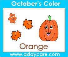 october preschool curriculum lesson plans theme circle 409 | October Preschool Learn Color Orange