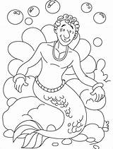 Coloring Merman Mermaid Boy Young Clipart Loves Idea Craft Centaur Library Clip Wedothings sketch template