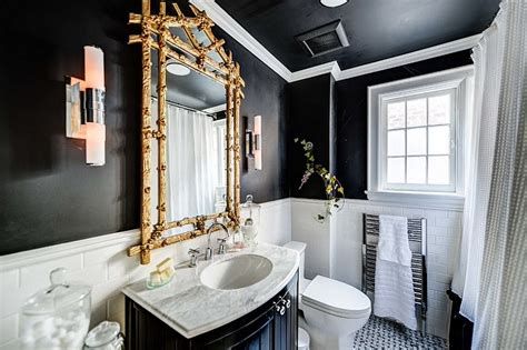 glam bathroom ideas 20 exquisite bathrooms that unleash the of black