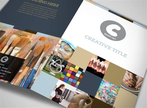 Fold Brochure Template Arts Arts Gallery Bi Fold Brochure Template
