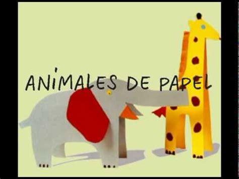 manualidades  ninos animales de papel youtube