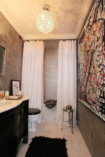 ideas  black shower curtains  pinterest red shower curtains guest bathroom