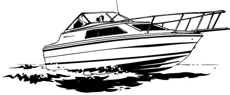Boat Clipart Black And White Free by Speed Boat Black And White Clipart