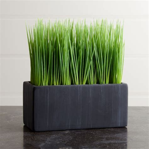 artificial large potted grass reviews crate  barrel