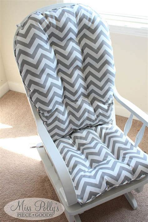 Gray And White Rocking Chair Cushions by Custom Chair Cushions Glider Cushions Rocking Chair