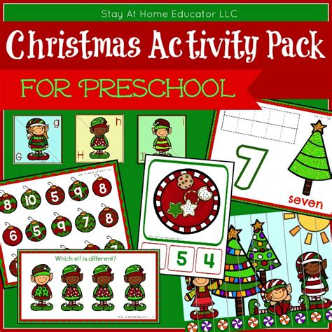 activity pack for preschoolers stay at home 204 | Christmas Activity Pack for Preschool.cover .1