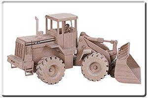 wood toy plans kits front  loader pattern  tj