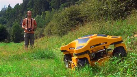 amazing remote lawn mower spider rc mower youtube