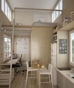 Einrichtung Kleine Küche : mini apartment design ideen einen kleinen raum einrichten ~ Sanjose-hotels-ca.com Haus und Dekorationen
