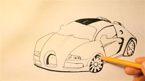 How to draw a bugatti veyron rear. How To Draw Bugatti Veyron Step By Step Easy+Super Sport - YouTube