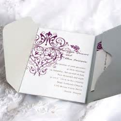 wedding invites vintage purple chandelier grey pocket wedding invitation kits ewpi029 as low as 1 69