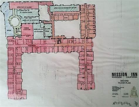 floor plans of the mission inn and catacombs inside the