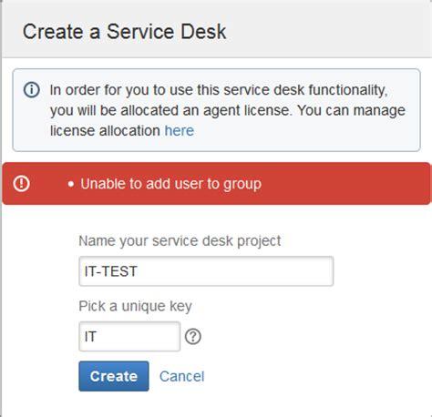 jira service desk 20 pricing 새로운 service desk를 생성하는 중에 사용자를 그룹에 추가할 수 없습니다 골드피처 jira