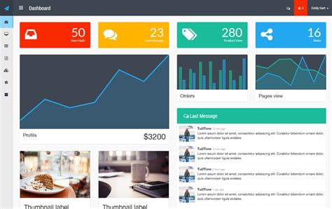 best bootstrap templates 100 best free bootstrap admin templates 187 css author