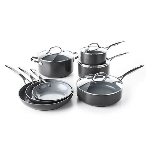 greenpan valencia pro  pc ceramic nonstick cookware set