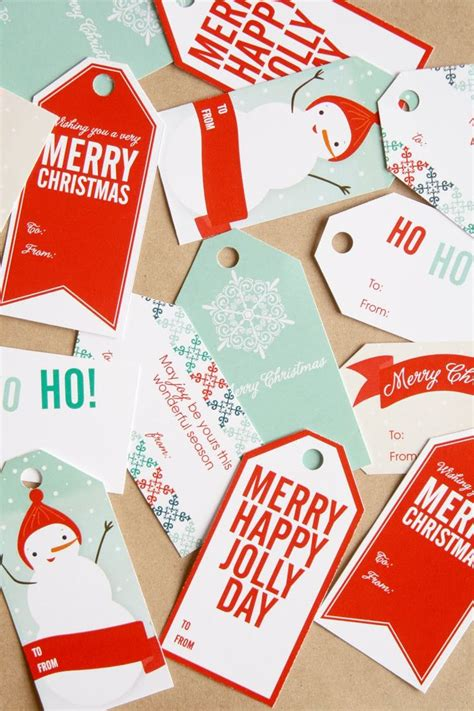10 pinterest free christmas gift tag printable printout