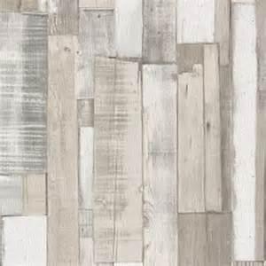 papier peint effet planches de bois blanc gris castorama
