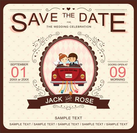 super adorable cartoon wedding invitations   fun