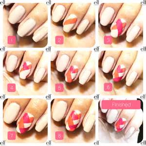 Nail art steps with pictures : Version of the easy step by fishtail nails tutorial check it out